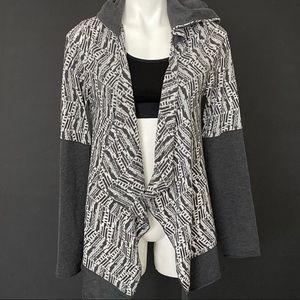 Prana Graceful Wrap Hooded Open Cardigan Large